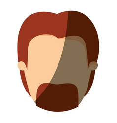 color image shading front view faceless man with vector image vector image