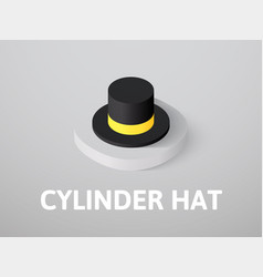 cylinder hat isometric icon isolated on color vector image