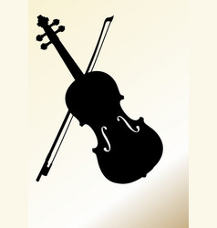 Flyer design template with violin silhouette on vector
