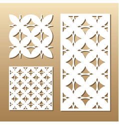 geometric laser cut vector image vector image
