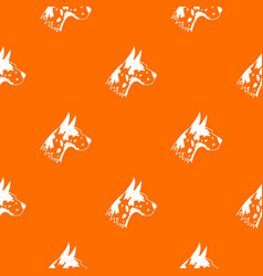 Great dane dog pattern seamless vector