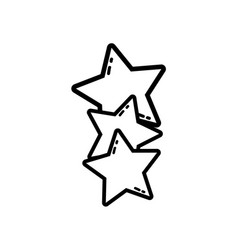 line stars shining in the sky decoration design vector image vector image