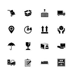logistics - flat icons vector image