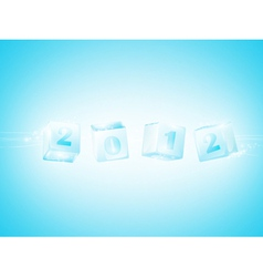 new year 2012 ice cubes vector image