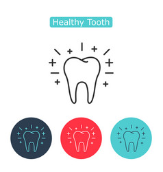 outline tooth icon vector image