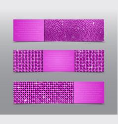 Pink sequins banners card brochure probe vector