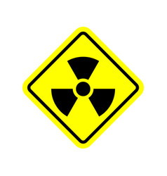 Radiation danger sign caution chemical hazards vector