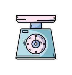 scale weight machine kitchen utensil vector image vector image