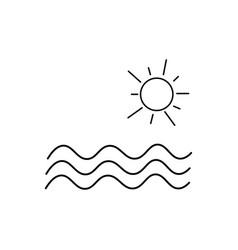 sea and sun icon vector image vector image