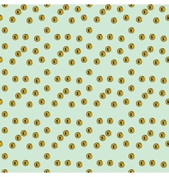 Seamless pattern coin money vector image vector image