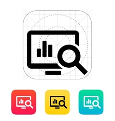 Search chart icon vector image vector image