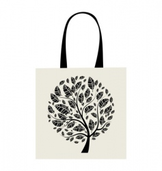 Shopping bag design art tree vector