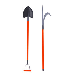 shovel and other long thing for firefighting set vector image vector image