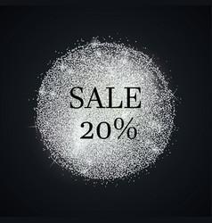 Silver-sale-twenty vector