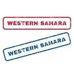 Western Sahara Rubber Stamps vector image