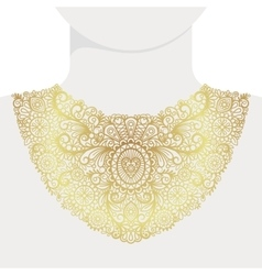 Fashion decorative golden neck print vector image