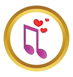 Love song icon vector