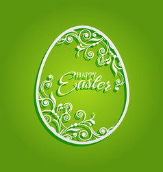 Easter egg with flowers for greeting card vector