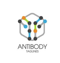 Antibody logo vector