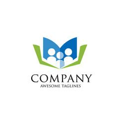 Education logo education logo open book vector