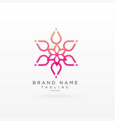 beautiful flower logo concept design vector image
