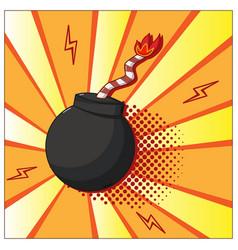 pop art bomb vector image