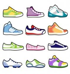 fashion shoes set vector image