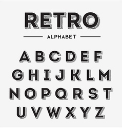 Graphic retro letters set vector