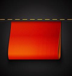 Red ribbon vector