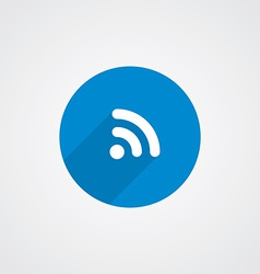Flat blue wifi icon vector