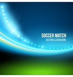 Soccer match stadium vector