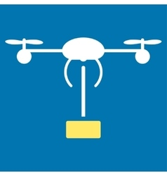 Copter shipment icon from business bicolor set vector