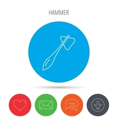 Reflex hammer icon doctor medical equipment vector