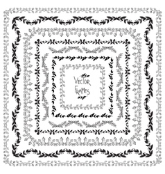 Set of decorative elements square frames vector