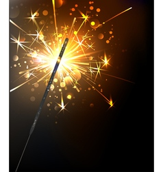 Yellow sparkler vector