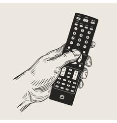 hand remote control vector image