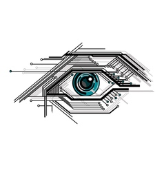 Abstract conceptual tech stylized eye vector