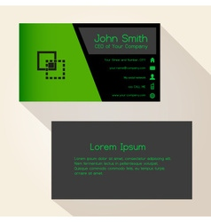 Simple black and green business card design eps10 vector