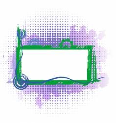 violet industrial frame vector image