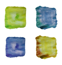 Set of abstract watercolor backgrounds isolated vector