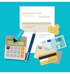 Invoice invoicing payment money calculator pay vector