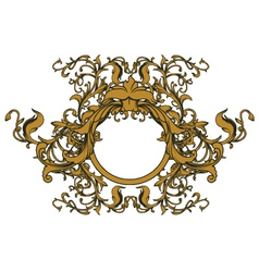 baroque floral ornament vector image