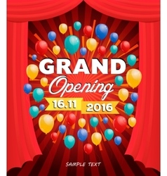 Grand opening banner design vector image