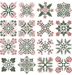 Floral style design elements vector