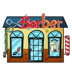 a barber shop vector image vector image