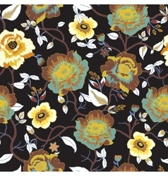 Abstract seamless pattern with isolated flowers vector