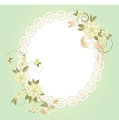 background with lace frame vector image vector image