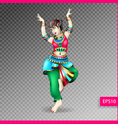 Beautiful indian women dancing coloring vector
