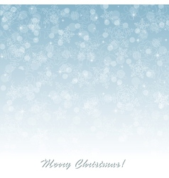 Blue Christmas background with snowflakes vector image vector image