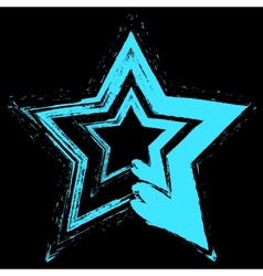 Blue Star Grunge vector image vector image